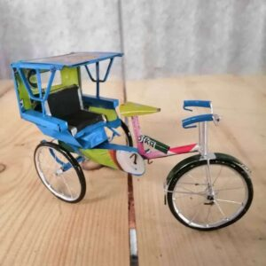 handmade model cycle rickshaw